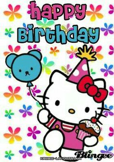 Hello kitty happy birthday quotes birthday pinterest happy find this pin and more on cards photos for different occasions by maria teresa alayza m4hsunfo