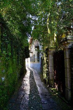 Narrow street, Torino, Italy