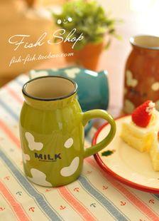$3.18 Wholesale the zakka lovely shape breakfast cup milk glass coffee mugs cups color new-ZZKKO