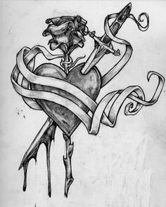 """ as played … Sword Tattoos Rose Sword Tattoo Vampire Tattoo … - All About Badass Drawings, Dark Art Drawings, Art Drawings Sketches Simple, Pencil Art Drawings, Tattoo Sketches, Tattoo Drawings, Coeur Tattoo, Broken Heart Drawings, Konosuba Wallpaper"