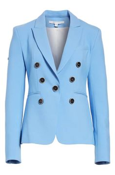 Product Image 4 Double Breasted Blazer, Periwinkle Blue, Veronica Beard, Hue, The Row, Nordstrom, Coat, Jackets, Beauty
