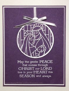 Fast and Fabulous Friday - Gentle Peace Christmas Ornament try this with Newborn King stamp set and ornament framelits!