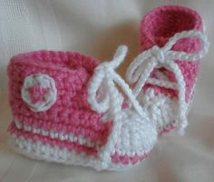 Crocheted Converse Baby Shoes  Boy/Girl Shoes  Baby by MamaTCrafts, $20.00