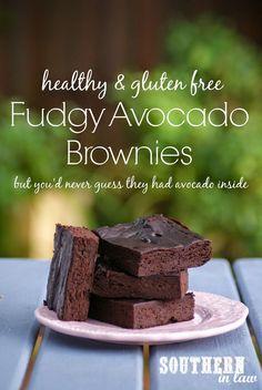 Healthy Avocado Fudge Brownies - gluten free, flourless, low fat, lower sugar, healthy brownie recipe @Kristina Kilmer Jacobs