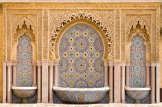 Moroccan Decor Tapestry by Ambesonne, Typical Moroccan Tiled Fountain in the City of Rabat, Near the Hassan Tower, Wall Hanging for Bedroom Living Room Dorm, 60 W X 40 L Inches Moroccan Decor, Moroccan Style, Moroccan Bedroom, Moroccan Interiors, Moroccan Design, Style Marocain, Wall Mural Decals, Mural Art, Wall Art