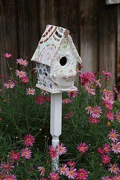 teacup birdhouse