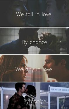 #stalia Teen Wolf 4, Teen Wolf Ships, Teen Wolf Memes, Teen Wolf Cast, Dylan O'brien, We Fall In Love, Falling In Love, Stiles And Malia, Malia Tate