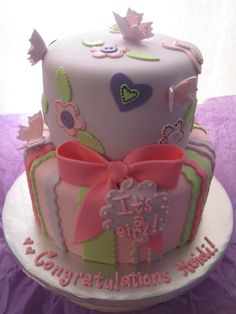 Would also be a cute cake for a little girl's birthday