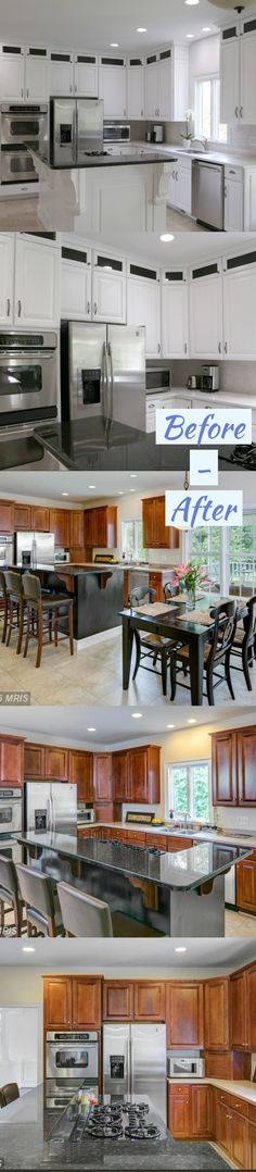 Before and After Kitchen Cabinet Refacing Ideas And After A Budget Diy Cabinet Refacing, Refacing Kitchen Cabinets Cost, Home Depot Cabinets, Modern Kitchen Cabinets, Diy Cabinets, Kitchen Cabinet Design, Kitchen Laminate, Diy Kitchen, Kitchen Models