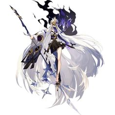 Female Character Design, Character Design Inspiration, Character Concept, Character Art, Concept Art, Fantasy Characters, Anime Characters, Anime Weapons, Gothic Anime