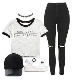 """""""PANDA"""" by melaninprincess-16 ❤ liked on Polyvore featuring Topshop, Forever 21, River Island and Amiee Lynn"""