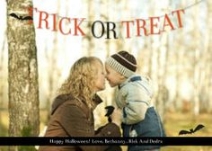Mixbook Trick or Treat Banner Halloween Cards and Invitations
