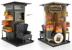 Two brands in one shop-in-shop. Pos Display, Wine Display, Store Displays, Display Design, Booth Design, Product Display, Exhibition Stand Design, Exhibition Booth, Pos Design