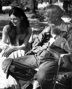 John Huston and his daughter Angelica