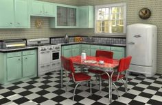 Retro Kitchen Design Ideas  Inspiration – Tables, Wallpaper  Chairs