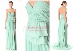 Hot Sell Sexy Sweetheart Country Style Mint Green Bridesmaid Dresses 2013 Chiffon Long BO1203 $99.00 Dresses 2013, Prom Dress 2014, Backless Prom Dresses, Dresses Dresses, Aqua Blue Bridesmaid Dresses, Bridesmaids, Green Chiffon Dress, Formal Dresses For Weddings, Dress Formal