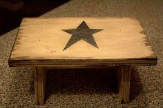 Primitive Distressed Step stool. $28.00, via Etsy.