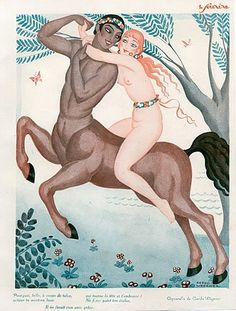 Gerda Wegener 1926 Nude Mythology Centaur
