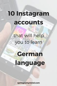 Instagram accounts to learn German