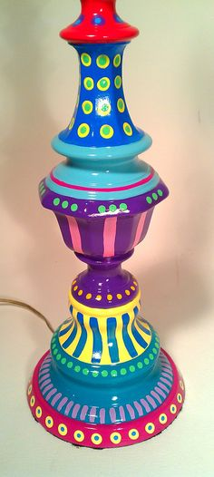 awesome hand painted lamp