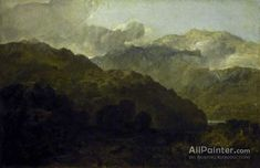 Joseph Mallord William Turner,Welsh Mountain Landscape oil painting reproductions for sale