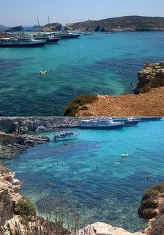The mind-blowingly stunning Blue Lagoon on the Island of Comino in Malta