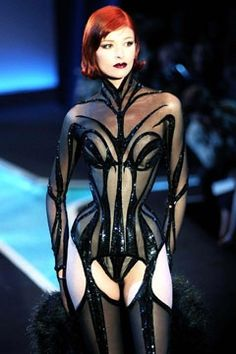 This looks like an evil spider queen corset to us.