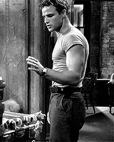Marlon Brando as Stanley Kowalski in A Streetcar Named Desire