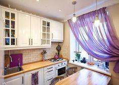 Оформление маленькой кухни. Вам нравится?