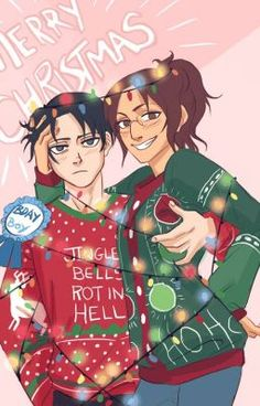 MERRY CHRISTMAS MY FELLOW SCOUT MEMBERS!!! 26 DAYS TILL CHRISTMAS!!!! From- Levi and Hanji <3