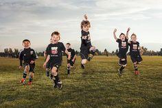 Colorado sports photographer shoot little league soccer team in Boulder | CakeKnife Photography