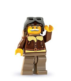 """Pilot -- """"This is just like when I outflew the Red Baron over the Sahara!""""   LEGO® minifigures   Series 3"""
