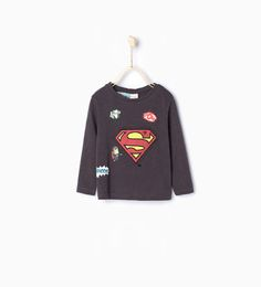 "Image 1 of ""SUPERMAN"" printed T-shirt from Zara"