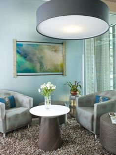 Waiting Area by RSVP Design Services.  Commercial Rug Application.  #dallasrugs #waitingarea #commercialinteriordesign