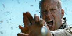 bruce willis angry face expression. Looper