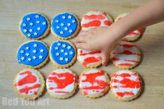 Make 4th July Cookies with the Kids!