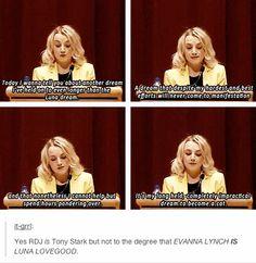 Evanna Lynch is not Luna Lovegood.Luna Lovegood is Evanna Lynch. Harry Potter Love, Harry Potter Fandom, Harry Potter Memes, Potter Facts, Luna Lovegood, Ravenclaw, Hufflepuff Pride, Evanna Lynch, Yer A Wizard Harry