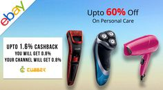 Ebay - Sale On Personal Care Products Shopping Personal Care  Products From Ebay And Will Get Upto 1.6% Cashback From Cubber.  Download cubber app:- http://cubber.in/app Shop and earn though website:- http://shop.cubber.in  #cubberapp #cashbackoffers #shoppingonline #cubbershop  #ganeshchaturthi #discount #sale #couponcode #onlinestore #cubberin #extraearn #refernearn #shopnearn