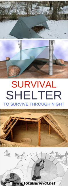 Survival Tips: How To Build DIY Survival Shelters To Survive Through The Night. Knowing how to create survival shelters for different environments is a valuable outdoor skill. These 9 DIY survival shelters could just save your life when the sun is getting low and you're out of luck! #survival #tent #shelter #survive