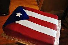 Puerto Rico flag cake. Simple and easy to make too!