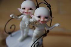 Happy Nekkid boys!  My little pukifee bjd dolls.. so tiny and so perfect!