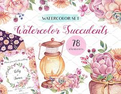 "Check out new work on my @Behance portfolio: ""Watercolor Succulents Design Set"" http://be.net/gallery/55447221/Watercolor-Succulents-Design-Set"