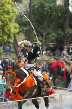 yabusame horseback archery by Alexander Smith on Kamakura Period, Mounted Archery, Running Horses, Work Horses, Samurai, Blood, Scenery, Japan, Life
