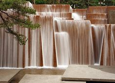 Ira Keller Fountain in Portland, OR by Lawrence Halprin. Photo by Phil Gilston. Formerly known, and always will be to me, The Fourcourt Fountain.