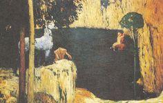 Jan Preisler Černé jezero Les Oeuvres, Painting, Landscapes, Google, Red, Image, Black, Eyes, Board