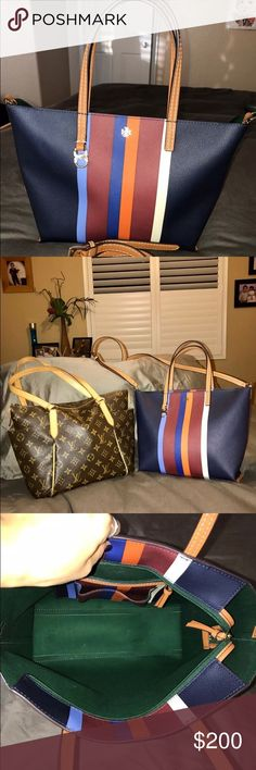 """Tory Burch Tote/Handbag/Crossbody 9x11x4 Used once Tory Burch Kerrington Small Tote Crossbody, approximately size is H9.36xL11x4.18 adjustable strap drop 23"""" hot item from Tory Burch. Pls feel free to offer me a reasonable price! No trade Pls! $250 retail LV Totally Pm not included Tory Burch Bags Crossbody Bags"""