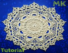 """МК салфетка """"Эмили"""" 11-12 ряды How to crochet a doily """"Emily"""" 11-12 rows"""