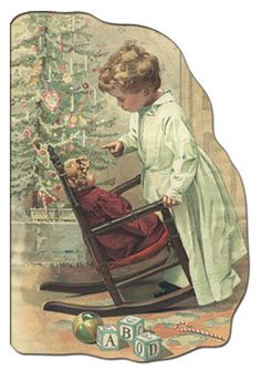 Glanzbilder - Victorian Die Cut - Victorian Scrap - Tube Victorienne - Glansbilleder - Plaatjes : Weihnachten mit Menschen