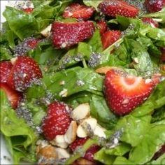 Salade aux fraises et aux épinards | Recette | J'aime 5 à 10 portions par jour | AQDFL
