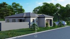 3 Bedroom House Plan MLB 008.1S - My Building Plans South Africa My Building, Building Plans, Guest Toilet, My House Plans, Bedroom House Plans, Open Plan Living, Master Suite, Living Area, South Africa